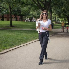 Diana walking in the park